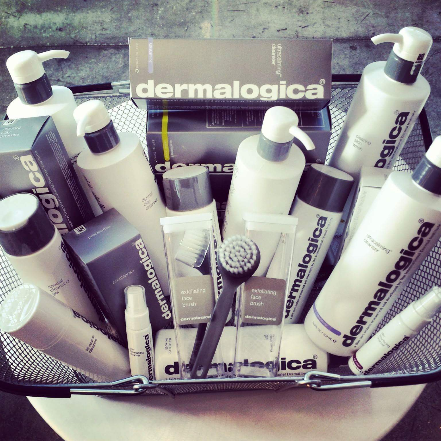 Basket of dermalogica Skincare Products